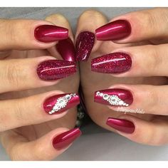 I like the red, and really like the ring finger art Red Nails by MargaritasNailz