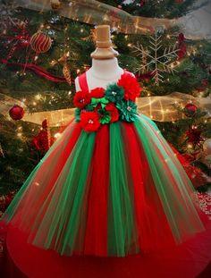 Red and Green Sparkle Christmas Tutu Dress - infant thru girls 10 Christmas Elf Costume, Christmas Tutu Dress, Christmas Pageant, Christmas Events, Tutus For Girls, Kids Outfits Girls, Little Girl Dresses, Tutu Costumes, Costume Dress