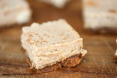 Cinnamon Cheesecake Bars with a Biscoff Crust