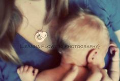 newborn pose - loved this, and so did the Mom. Great way to showcase any hand stamped jewelry, along with babies name.