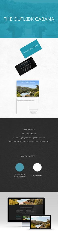 The Outlook Cabana is a resort located in Terrigal on the NSW, Central Coast. Graphic Design Agency, Graphic Design Studios, Branding Design, Logo Design, Web Design, Design Trends, Print Design, Pantone Solid Coated, Brandon Grotesque