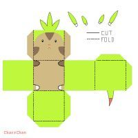 Chespin Papercraft by CharrChan