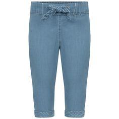 Carrement Beau Baby Girls Blue Chambray Trousers