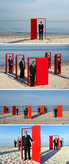 Doorways to Potential by Andrew Baines. Surreal live installation/performance in Australia