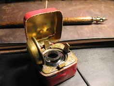 Victorian travelling inkwell with Midori Traveler's Notebook by Robert Burdock, via Flickr