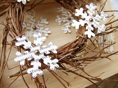 I love the look of these snowflakes. You could also use music, I'd guess.