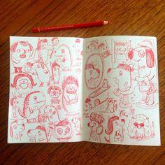 Bad hair. #sketchbook (c) Linzie Hunter
