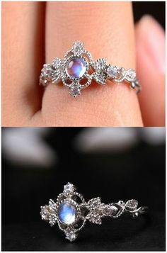 2017 BLACK FRIDAY DEALS 100 Genuine 925 Sterling Silver Forever Clear CZ Circle Round Finger Rings for Women Jewelry gorgeous antique art deco blue moonstone promise ring Cute Jewelry, Jewelry Box, Jewelry Rings, Jewelry Accessories, Jewelry Design, Bridal Jewelry, Jewlery, Designer Jewelry, Body Jewelry