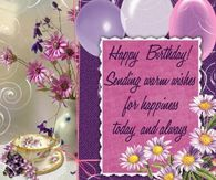 Happy Birthday Sending warm wishes your way
