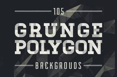 Check out Grunge Polygon Backgrounds by Zebra on Creative Market