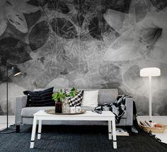 Wall mural R12062 Garden of Dreams, black & white