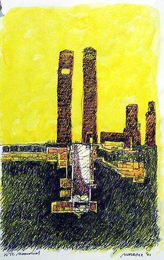 samuel mockbee drawings   World Trade Center Memorial