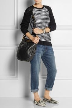 Marc by Marc Jacobs   The Classic Q Hillier Hobo textured-leather shoulder bag   NET-A-PORTER.COM