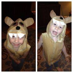Diy upcycled hoodie into piggy costume pig costume do it diy upcycled hoodie into doggie costume solutioingenieria Images