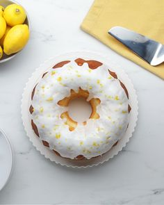 This classic lemon bundt cake recipe is perfect for any occasion: a bridal shower, summer BBQ, or even a treat for your family on a casual night in. The lemon glaze makes this cake perfectly moist… Lemon Desserts, Köstliche Desserts, Lemon Recipes, Delicious Desserts, Cake Recipes, Dessert Recipes, Sweet Desserts, Healthy Desserts, Bunt Cakes