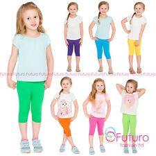 Cropped Children 3/4 Cotton Leggings Basic Plain Kids Capri Pants Age 2 - 13 Girls Leggings, Girls Pants, Kid Capri, Girl Emoji, Dance Tops, Cotton Leggings, Kids Girls, Party Wear, Capri Pants