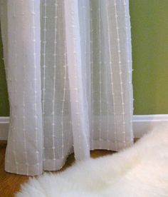 "1 NIP IKEA Matilda Sheer Cotton Curtains White 2 Panels each 55"" x 98"" LOW PRICE #IKEA #Country"
