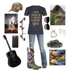 """""""jean and tee kind of girl"""" by nk12doglover ❤ liked on Polyvore featuring Emerson, Rodeo Rags, Gucci, Realtree, Disney and M&F Western"""