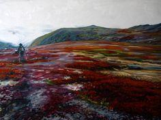 """Montana Mountain II"", 2011, Oil on panel, 30 x 40 inches, 76 x 102 cm"