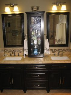 Love The Cabinet With The Glass Door For My Master Bathroom! Our Master Bath  Remodel.   Bathroom Designs   Decorating Ideas   HGTV Rate My Space