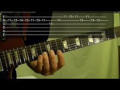 ▶ 60 Rock Riffs and Licks - Guitar Lesson ( EASY With Tabs ) -