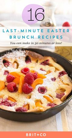 Bookmark these easy Easter brunch recipes that are quick + delicious!