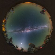 This alluring all-skyscape was taken 5,100 meters above sea level, from the Chajnantor Plateau in the Chilean Andes.