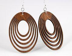 Ovale Offset  Holz Ohrringe von Reforested von GreenTreeJewelry, $12.95