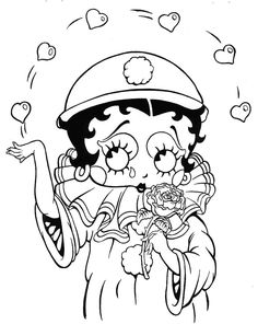 free adult coloring Betty Boop pages printable | betty-boop ...
