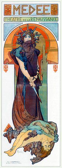 Medea, Alphonse Mucha, poster