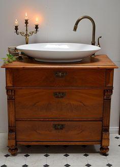 Vintage kommoden badm bel landhaus crimson waschtisch antik ein designerst ck von land und - Vintage waschtisch ...