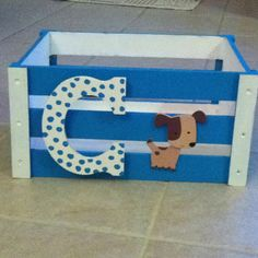 DIY Puppy toy basket :) making this for chomper.