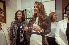 Queen Rania is a royal front runner on social media. Here she is at the Jordan River Foundation's (JRF) 19th annual handicrafts exhibition on October 28th.