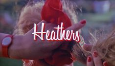 """Heathers - opening title w/red scrunchie. I was the Veronica, my little sister was the Heather Chandler; she always insisted on """"being red"""", even had the red scrunchie...made me want to wack her with a mallet. She hasn't changed much."""