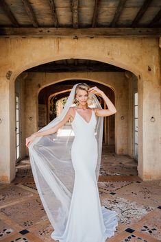 Jordan is French crepe luxury and striking simplicity. She will hug all the right places with classic elegance. Love Promise, Cathedral Length Veil, Wedding Shoes, Wedding Dresses, Classic Elegance, Bridal Collection, Perfect Fit, Jordans, Tulle