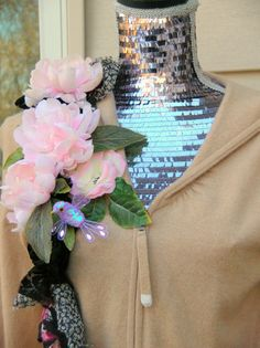 One of a Kind Cashmere Romantic Hoodie Sweater by JacketsbyJahne, $150.00