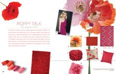 We love poppy - the color and the new patterns. They're everywhere this season!