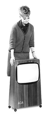 AGA Mobil Television: AGA manufactured this piece in their Mobil line. Designed by Bengt Johan Gullberg.