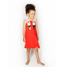 Bang Bang Copenhagen Red Swan Detail Sunshine Dress