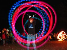These are LED Poi. They make great pics!