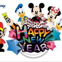 Disney funny cartoon New Year wallpaper Disney Happy New Year, Disney New Years Eve, Happy New Year Wishes, Happy New Year Wallpaper, Disney Images, Disney Fun, Funny Disney, Disney Stuff, Disney Mickey