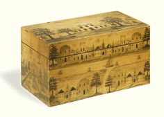 isual Grace Important Americana Folk Art from the Collection of Ralph O. Esmerian, is one of the most significant offerings of American folk art ever . Antique Cupboard, Antique Boxes, Antique Decor, Painted Chest, Painted Boxes, Decorative Trunks, Decorative Boxes, Furniture Village, Grisaille