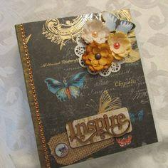 TPHH Premade Handmade Folio Mini Scrapbook Album Butterfly SWAK #DCWV