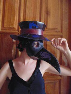 DIY Plague doctor mask hat. Plague doctor costume. Plague