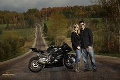 Engagement Pic With Motorcycle No BS Photo Success