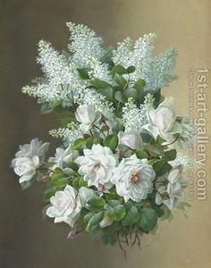 """Raoul Maucherat de Longpre - """"Lilacs And Roses 2"""""""