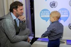Josh Lucas and his son