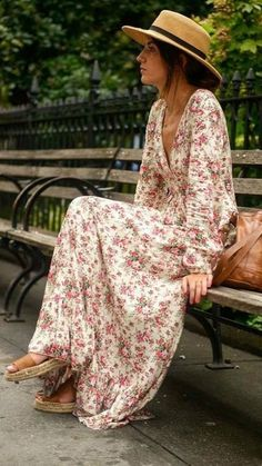 Red Plunging Long Sleeves Floral Maxi Dress. Hippy DressBoho DressDress  BeachDress SummerBeach ... 0ada65f3413f