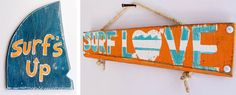 Check out my interview with #Etsy shop owner and artist Christina of The Mango Seed at SanBriego.com | #crafty #diy #beachdecor #coastaldecor #signs #surf