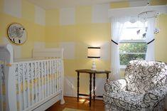 Yellow gingham nursery!